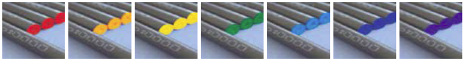 Type of carbon rods (Red, Orange, Yellow, Green, Blue, Navy Blue, Purple)